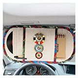 LuckySHD Bohemian Style Car Sun Visor Tissue Bag CD Visor Organizer Holder (White)