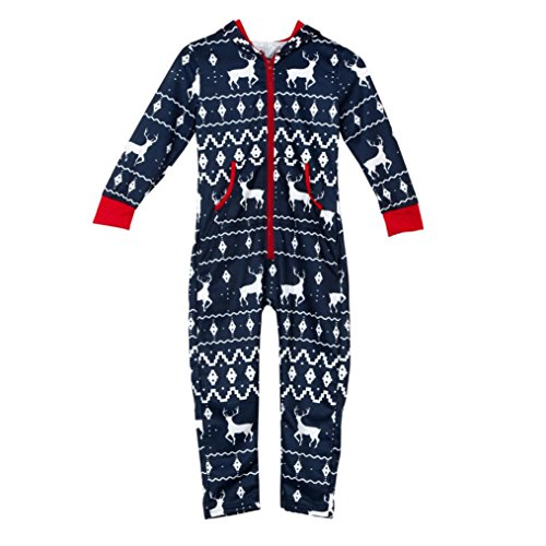 wensltd christmas elk print onesie sleepwear jumpsuit hoodies matching family pajamas previous next