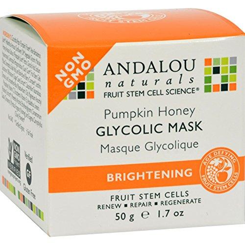 Andalou Honey Naturals Pumpkin (Andalou Naturals Glycolic Brightening Mask Pumpkin Honey - 1.7 fl oz (Pack of 2))