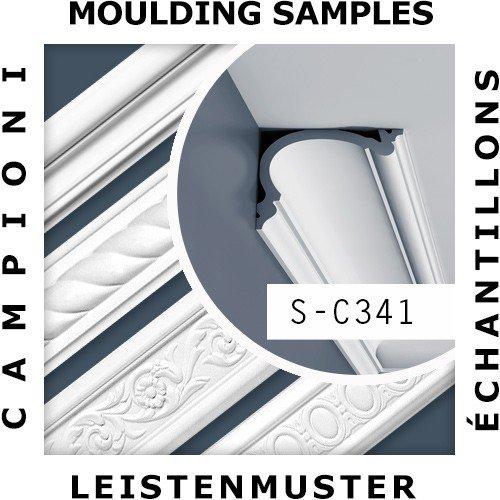 CAMPIONE di modanatura Cornice soffitto parete Lunghezza circa 10 cm 1 CAMPIONE S-C341 Orac Decor LUXXUS