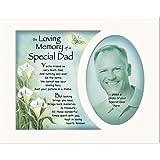 Soportes de memoria Memorial In Loving Memory Special Dad de un soporte y poema marco de fotos para 10 x 20,32 cm