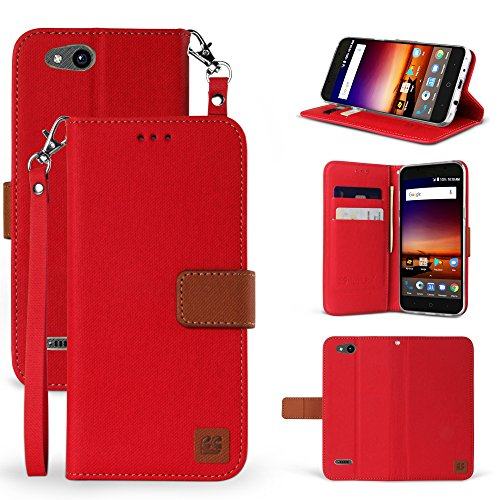 ZTE Blade Vantage Case, ZTE Tempo X Case, Customerfirst Luxury PU Leather Wallet Flip Protective Case Cover with Card Slots and Stand for ZTE Blade Vantage Z839/ZTE Tempo X N9137 - Store Online Tay