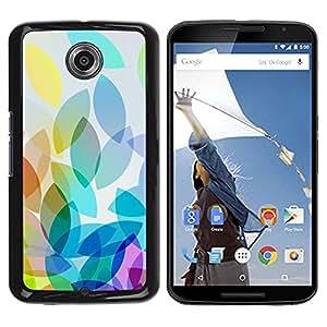 Paccase / SLIM PC / Aliminium Casa Carcasa Funda Case Cover - Apple Colorful Light Bright White - Motorola NEXUS 6 / X / Moto X Pro