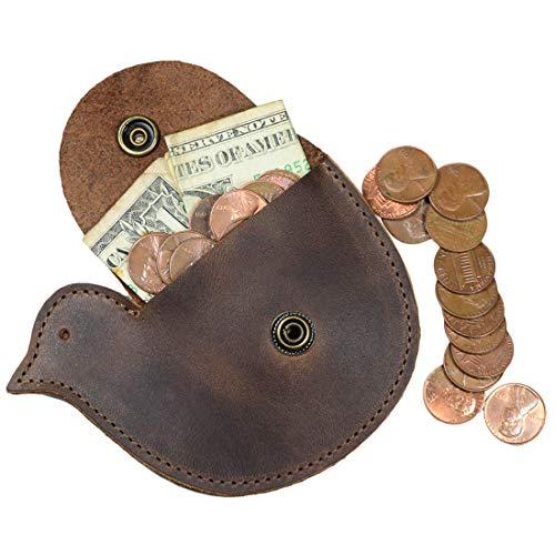 Amazon.com: Hide & Drink, billetera de piel de cereón moneda ...