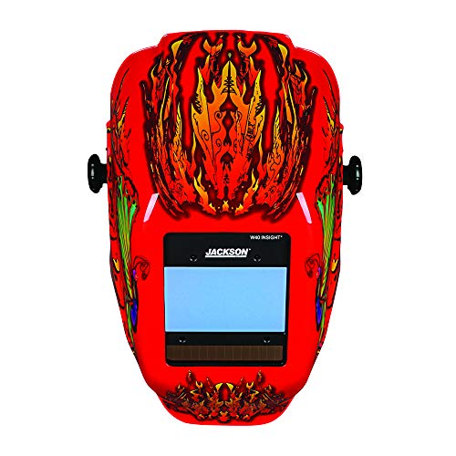 JACKSON SAFETY 46109 Insight Digital Variable ADF Welding Helmet, Halo X, Universal, Flaming Butterfly