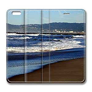 iPhone 6 Leather Case, Personalized Protective Flip Case Cover Beach Nature 22 for New iPhone 6
