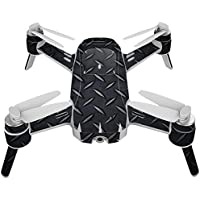 Skin For Yuneec Breeze 4K Drone – Black Diamond Plate | MightySkins Protective, Durable, and Unique Vinyl Decal wrap cover | Easy To Apply, Remove, and Change Styles | Made in the USA