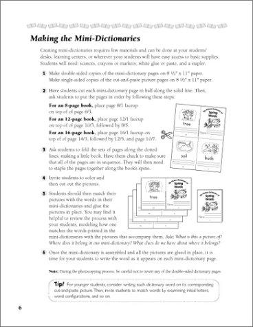 Amazon.com: 15 Reproducible Cut & Paste Mini-Dictionaries ...