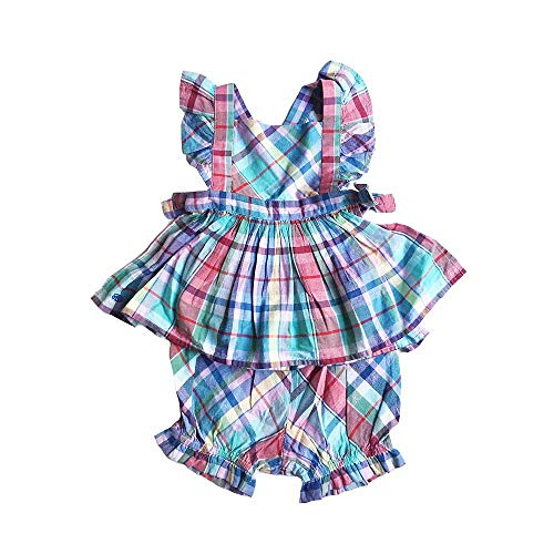 Polo Ralph Lauren Baby Girl's Top & Shorts Set, 12 Months, Blue Multi