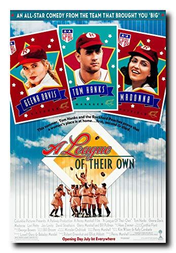Davis Movie Poster - Mile High Media A League of Their Own Movie Poster 24x36 Inch Wall Art Portrait Print - Madonna - Geena Davis