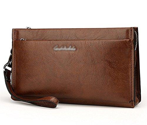 Leather nero Fashion Clutch Capacity Bao Bag cachi Wallet Large Men 4A1qvZS