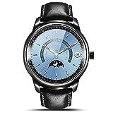 Smart Watch LEMFO LEM1 Pro Super Slim Bluetooth Fitness Tracker Smartwatch with Leather Band (Pro Black)