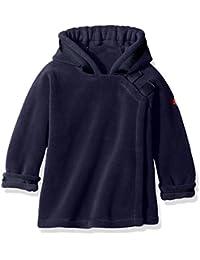 Baby Polartec Fleece Warmplus Hooded Wrap Jacket With Velcro Close