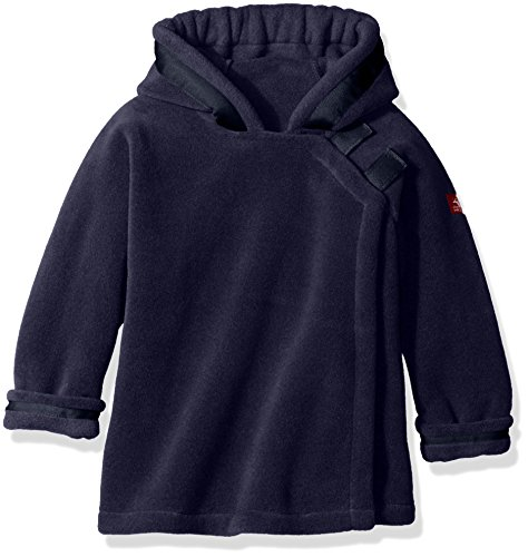 (Widgeon Baby Little Kids Polartec Fleece Warmplus Hooded Wrap Jacket with Velcro Close, Navy 620, 2)