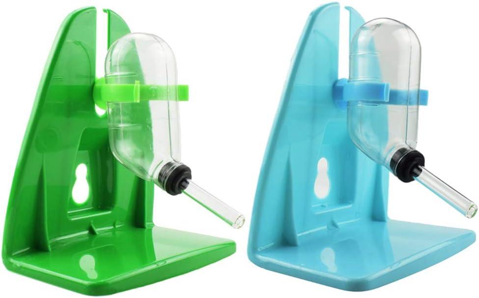 POPETPOP 2 Piezas Alimentadores de Agua Colgantes sin Goteo Mascota Jaula Automática Botella Dispensadora de Agua para Hámster Rata Gerbo Conejillo de Indias Hurón Conejo Color Aleatorio