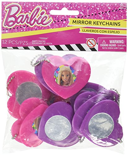 Heart Mirror Keychain Favors | Barbie Sparkle Collection | Party Accessory