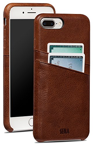 - Sena Snap On Wallet Premium All Leather Wallet Drop Safe Snap On Case  Iphone 8 Plus  7 Plus - Brown