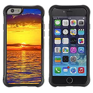 Pulsar Defender Series Tpu silicona Carcasa Funda Case para Apple iPhone 6 Plus(5.5 inches), Sunset Sea Beautiful Nature 22