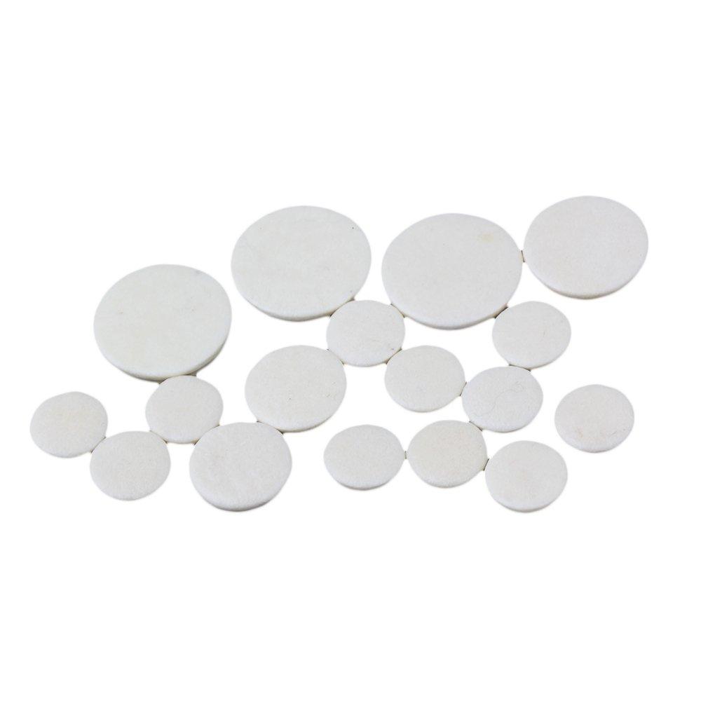 Yibuy White 17 key bB Clarinet pads / Clarinet Parts Pack of 17 etfshop Yibuy5