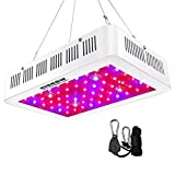 HIGROW 600W Double Chips LED Grow Light Full Spectrum Grow Lamp with Rope Hanger for Indoor Greenhouse Hydroponic Plants Veg and Flower