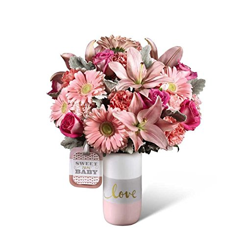 Ftd Sweet - Sweet Baby Girl Bouquet by Fasan Florist - Fresh Flowers Hand Delivered - Chicago Area