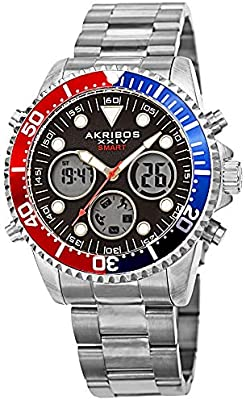 Amazon.com: Akribos AK1094 - Reloj inteligente de buceo ...