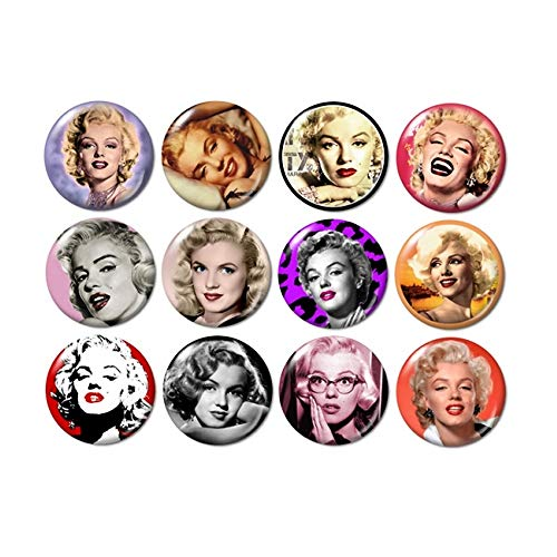 Marilyn Monroe Buttons Pins (Marilyn Monroe Stockings)