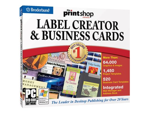 Amazon print shop business card label creator dvd print shop business card label creator reheart Image collections