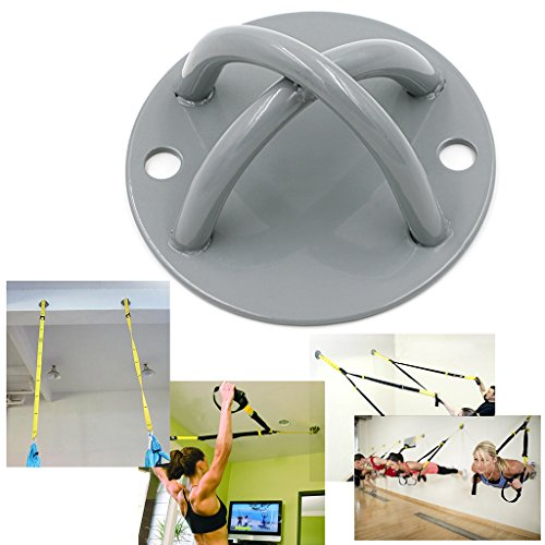 Hipiwe Ceiling Anchor Wall Mount Bracket for Suspension Straps, Gymnastic Rings, Aerial Yoga Swing & Hammock, Resistance Band, Battle Rope