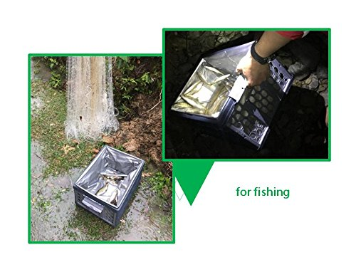 DKMUS Trunk Folding Organizer Bin Multi-functional Cage Road Safety Warning Triangle Kit Outdoor Fishing Picnic Freezer Bins 28L DKM International