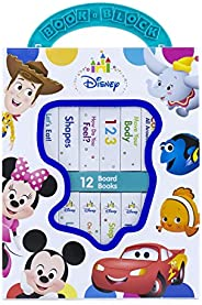 Disney Baby Mickey Mouse, Minnie, Toy Story and More! - My First Library Board Book Block 12-Book Set - PI Kid