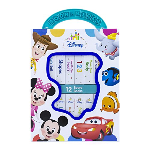 Disney Baby - Mickey, Minnie, Toy Story, and More! My First Library Board Book Block 12 Book Set - PI Kids -