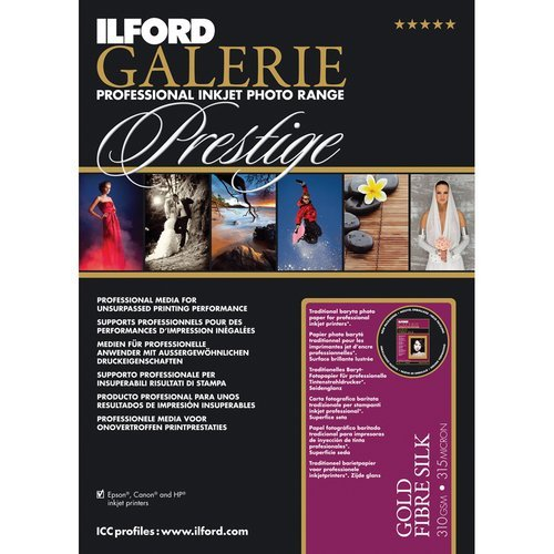 ILFORD 2002106 GALERIE Prestige Gold Fibre Silk - 17 x 22 Inches, 25 Sheets by Ilford