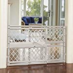 "North States Mypet Paws 40"" Portable Pet Gate: Expands & Locks In Place with No Tools. Pressure Mount. Fits 26""- 40"" Wide (23"" Tall, Light Gray) 7"