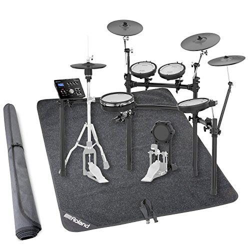 Roland TD-25KV V-Drums Electronic Drum Set w/Stand and Non-Slip Drum Floor Mat by Roland
