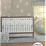 Grey Elephant 9pcs Embroidered Crib set Baby Bedding Set Crib Bedding Set Girl Boy Nursery Crib Bumper bedding with Diaper bag Curtain