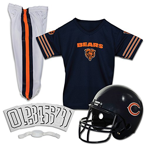 Nfl Sports Apparel (Franklin Sports NFL Chicago Bears Deluxe Youth Uniform Set, Medium)