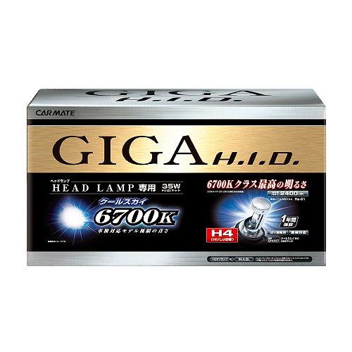 カーメイト 車用 ヘッドライト HID GIGA プレミアムスカイ コンバージョンキット H9/H11共通 6500K 2400lm ホワイト 車検対応 GHK1165 B0089RK5BU H9/H11|6500K  H9/H11
