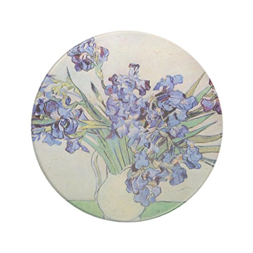 Zazzle Van Gogh Vase with Irises, Vintage Floral Fine Art Coaster