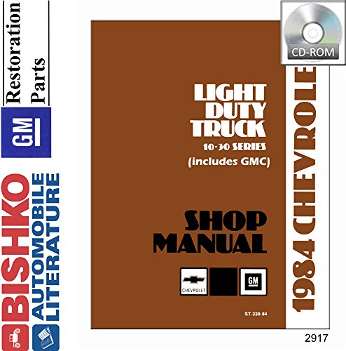 bishko automotive literature 1984 Chevy GMC 10-35 Pickup Truck Shop Service Repair Manual CD Engine ()
