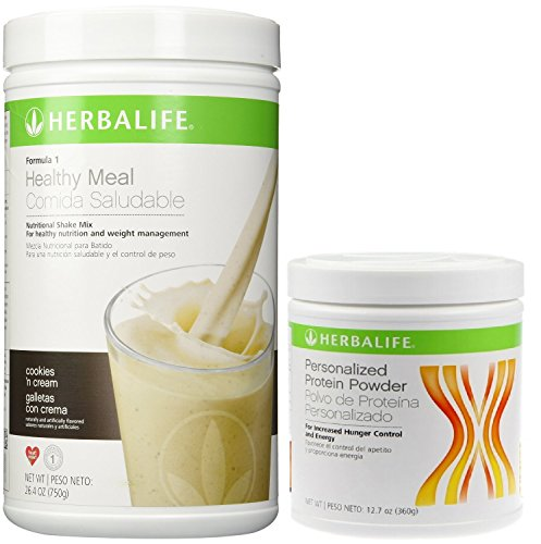 Herbalife Formula 1 Shake Mix-Cookies 'n Cream (750g) + Formula 2 Personalized Protein Powder (PPP)-360g Unflavoured. by Herbalife