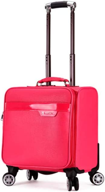 Simple Business Office Bag Trolley Case Haoyushangmao Wheeled Laptop Briefcase Laptop Trolley Case 18 Inches//Black The Latest Style Pilot Travel Cabin Bag Color : Rose Red