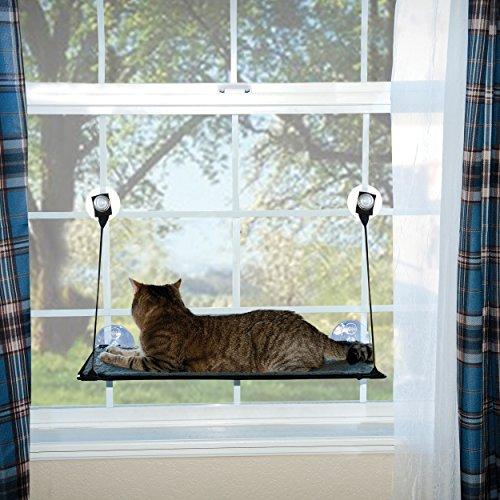 K&H Pet Products EZ Mount Window Kitty Sill Gray 12' x 23'