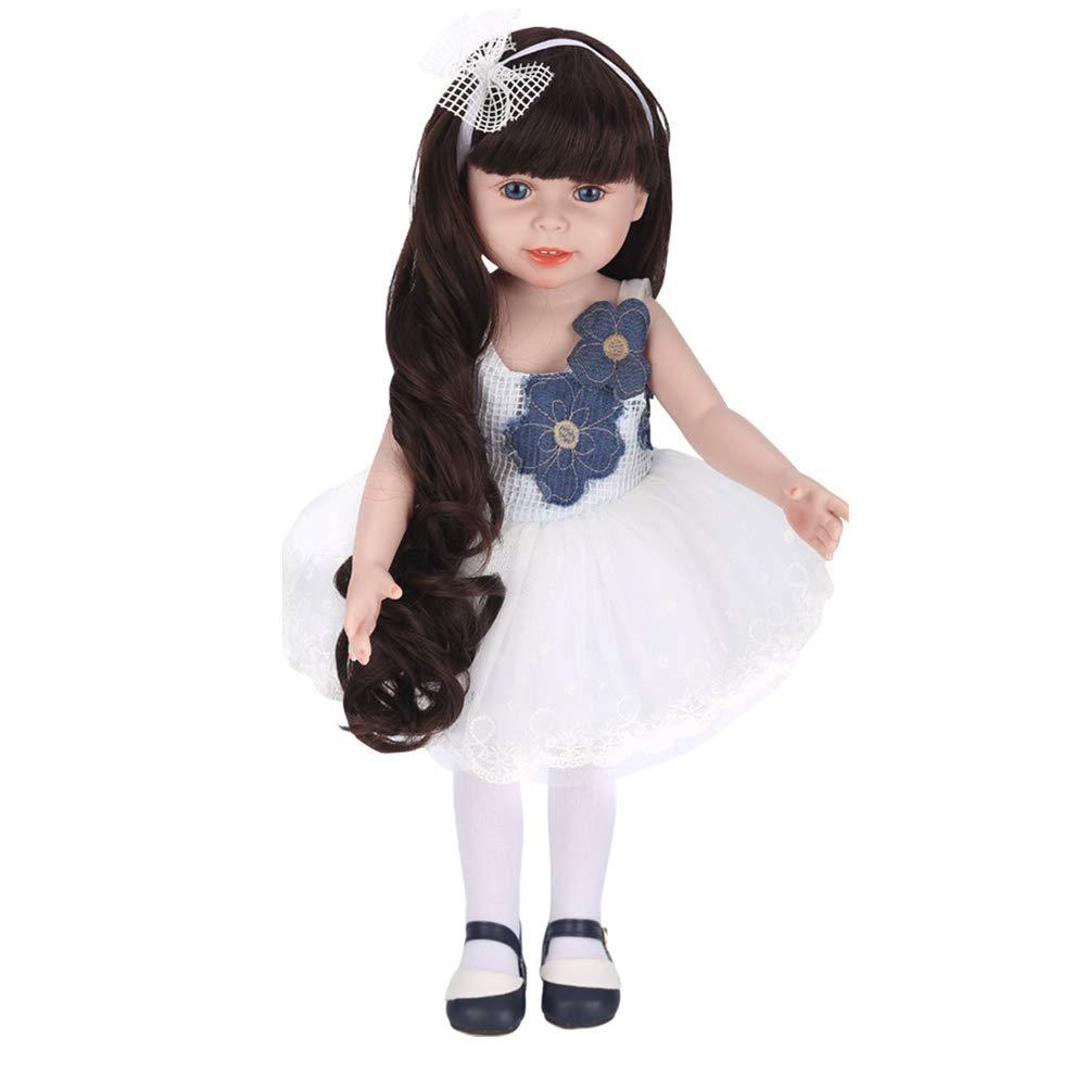 Promoción por tiempo limitado Doll Realista Y Hecho A Mano 16.7 Pulgadas 45Cm Suave Silicona Reborn Bebé Muñecas De Navidad Regalo De Juguete para Niños con Lindo Vestido Hermosos Zapatos HMYH,A