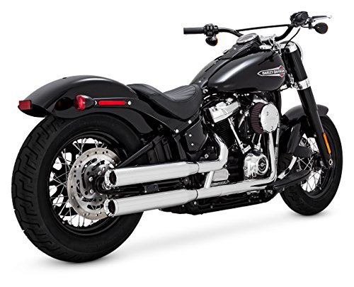 Vance & Hines Chrome Eliminator 300 Slip-ons for 2018-Newer Softail Street Bob, Low Rider, Softail Slim, Fat Boy, and Breakout ()