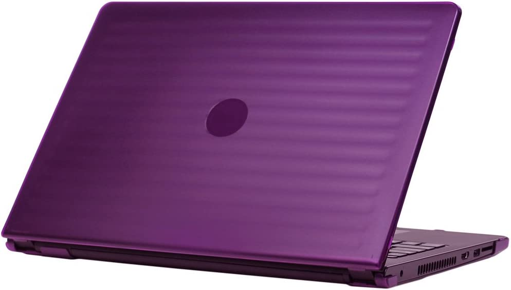 "mCover iPearl Hard Shell Case for 15.6"" Dell Inspiron 15 3552/3558 Series Computers (NOT Fitting Other Dell 15"" laptops, Inspiron 3552/3558 Model Only) - Purple"