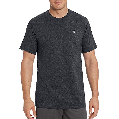 Champion Vapor Mens Cotton Basic Tee T0351_Granite Heather_XL