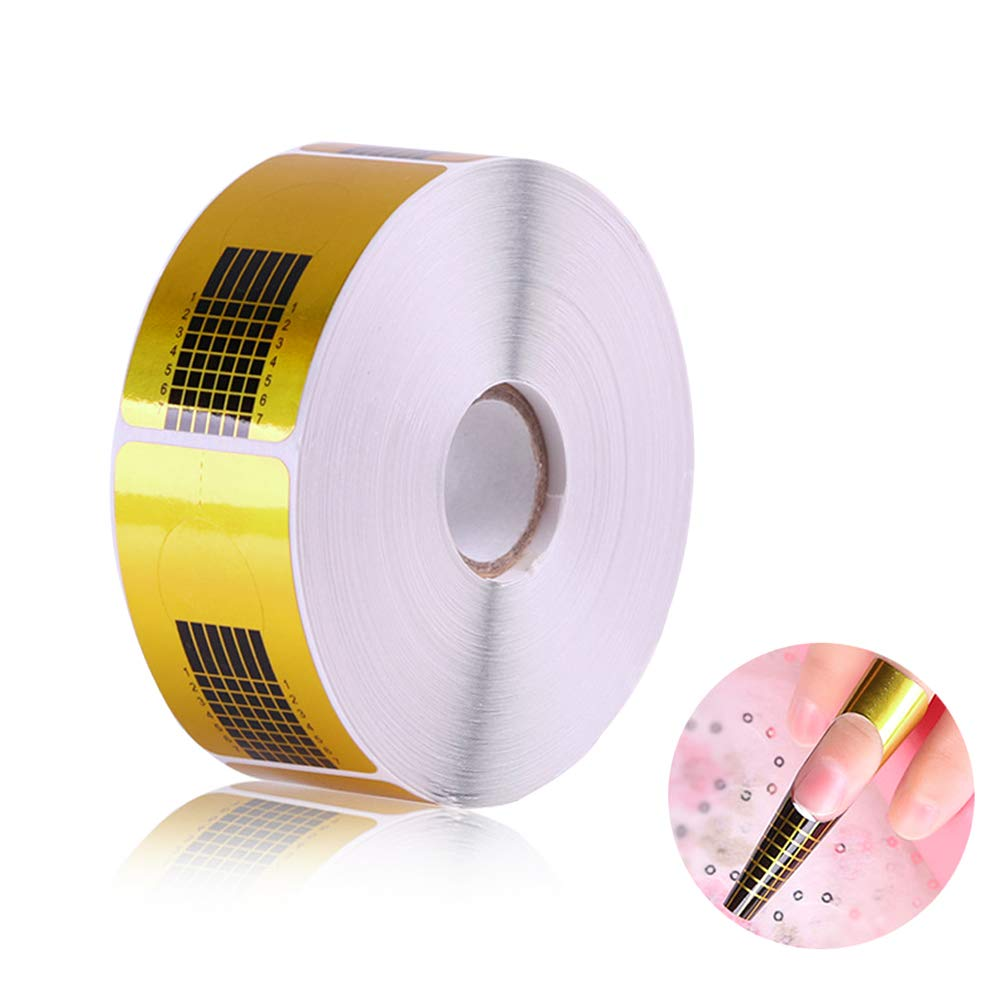 Dokpav 500 Stück Nagel-Schablonen, Modellier-Schablone selbstklebend für Gel-Nägel & Nagel-Verlängerung