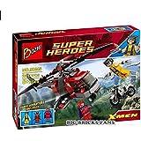 Bozhi Super Heroes X-Men Wolverine's Chopper Showdown Magneto Vs Deadpool Compitable with Lego