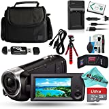 Sony HD Video Recording HDRCX440 HDRCX440B Handycam Camcorder + 32GB Memory Card + Tripod + Case + USB Cable + Travel Charger + Battery + Liquid Deals Cleaning Solution